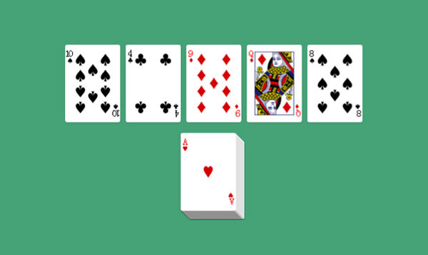 随机发扑克牌