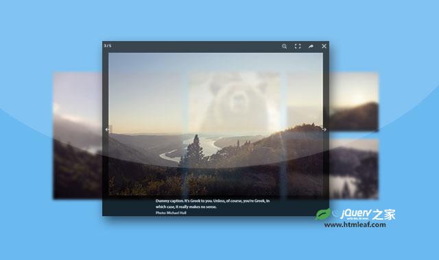 PhotoSwipe.js|支持移动手机的纯js图片画廊插件
