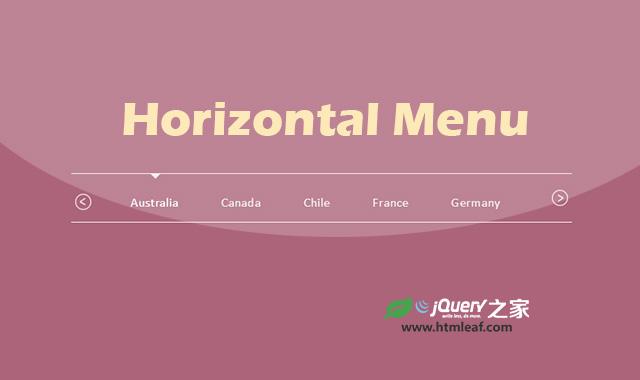 基于jQuery UI的跨设备响应式水平菜单特效
