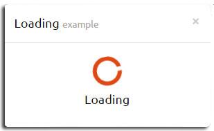 eModal对话框的ajax loading效果