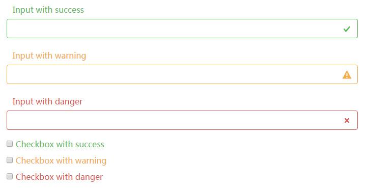 Bootstrap4情景类表单元素