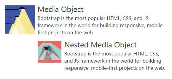 Bootstrap4嵌套的媒体对象
