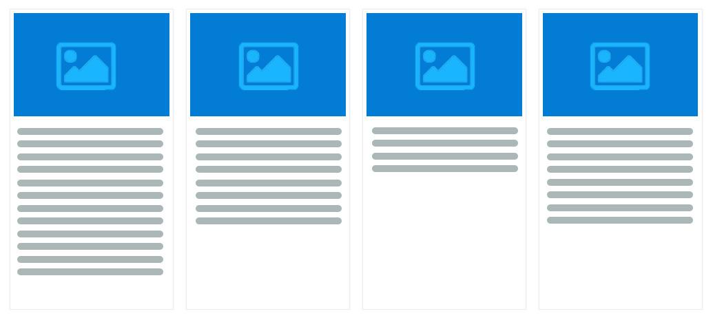 flexbox带缩略图的等高卡片布局