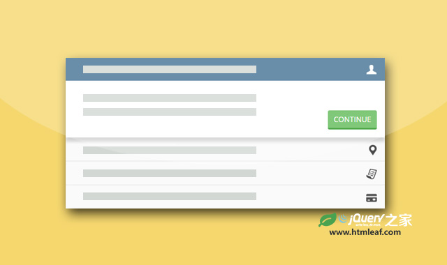 jQuery和CSS3手风琴样式分步向导特效