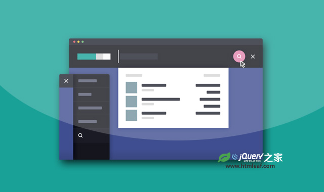 jQuery和CSS3炫酷高级搜索框设计效果