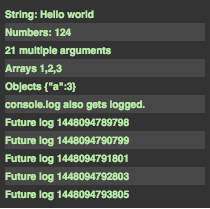 screenlog.js插件效果截图
