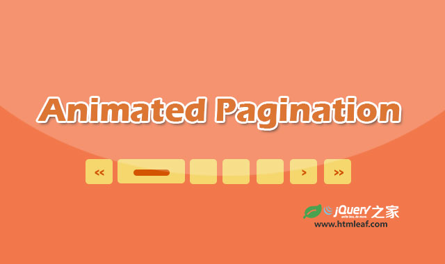 纯CSS3带过渡动画特效的分页条ui设计效果