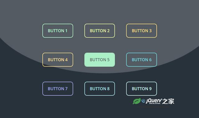 9种纯CSS3鼠标滑过彩色按钮动画特效