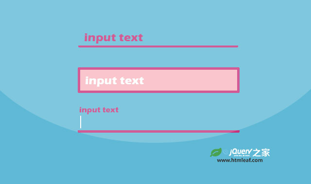 24种表单input输入框聚焦动画特效