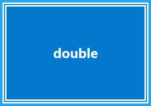 double样式的边框