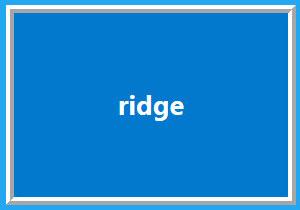 ridge样式的边框