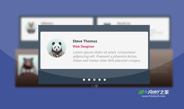 基于Owl-Carousel的人物信息展示jQuery幻灯片特效