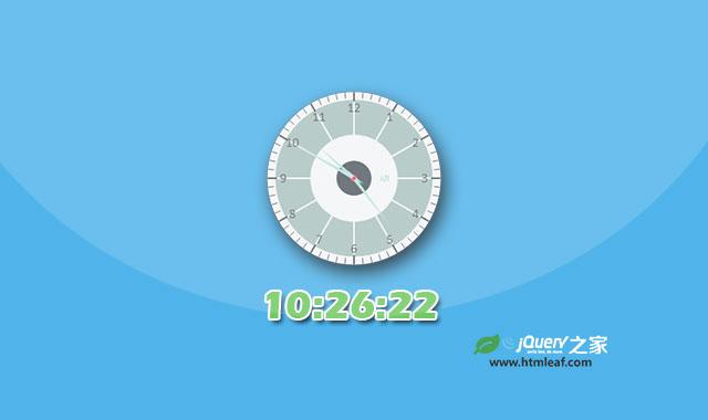 Clock.js-HTML5模拟时钟jQuery插件