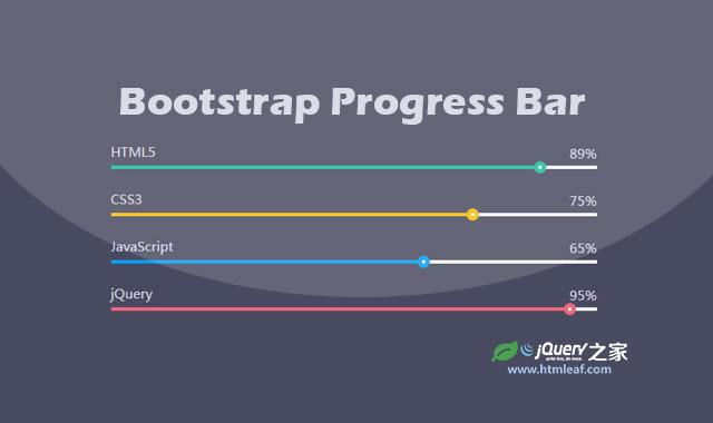 Bootstrap超酷进度条动画UI设计
