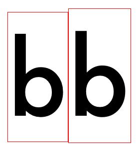 调整字体比例的示意图