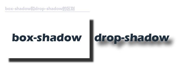 drop-shadow和CSS box-shadow阴影效果的比较