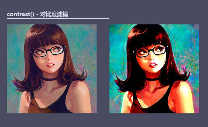 CSS contrast()对比度滤镜的效果