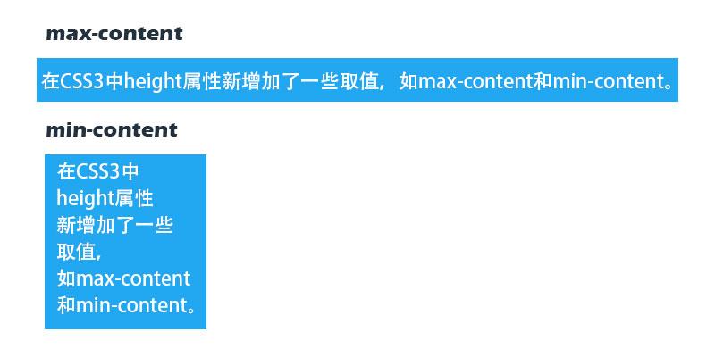 max-content和min-content值的区别