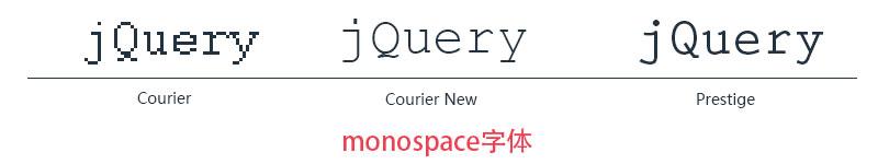 monospace字体