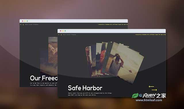 超酷不同风格页面布局幻灯片特效