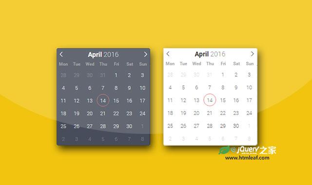 强大的纯JS扁平风格日期时间选择器插件