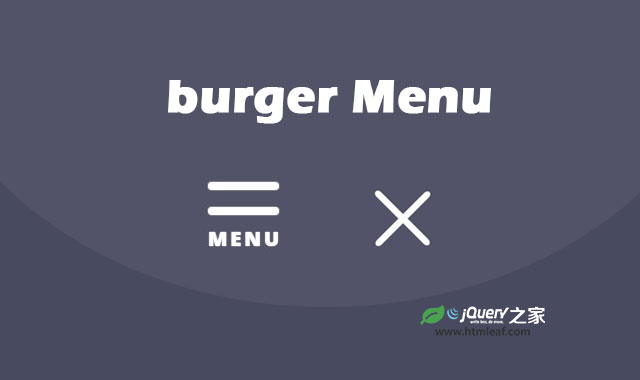 jQuery和CSS3超炫汉堡包变形动画特效