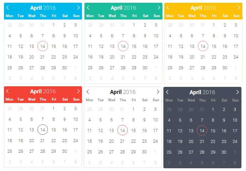 flatpickr日期时间选择器的各种主题效果