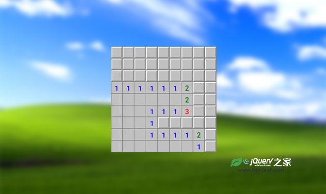 纯CSS3经典windows扫雷小游戏