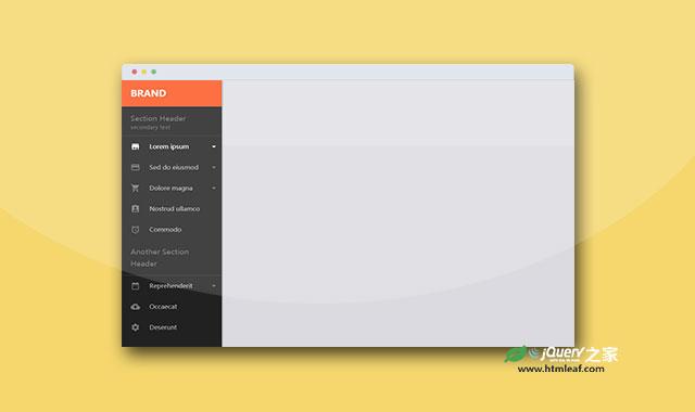 简洁时尚的jQuery和CSS3侧边栏菜单插件