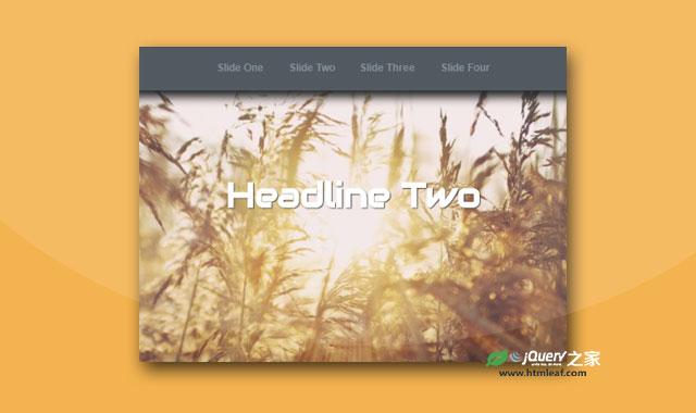 纯CSS3全屏响应式幻灯片特效