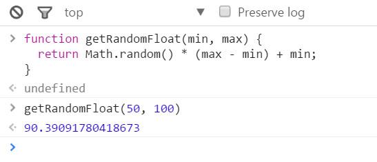 在chrome浏览器的控制台中测试js随机数-2