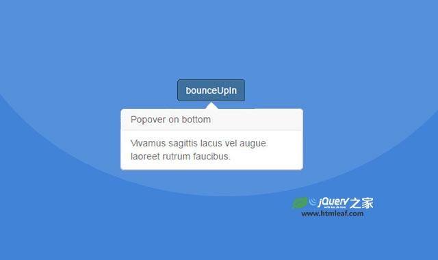 基于velocity.js过渡动画效果的Bootstrap模态窗口和popover