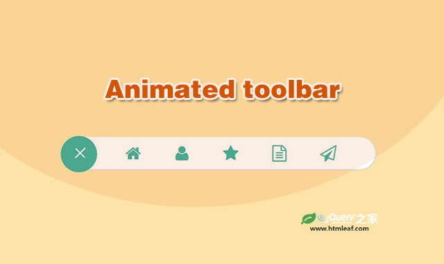jquery和CSS3带弹性动画效果的工具栏菜单