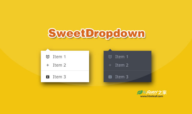 SweetDropdown-多用途jQuery下拉列表插件