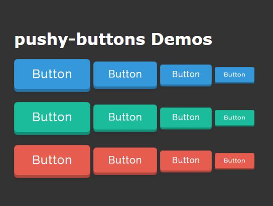 纯CSS3 3D按钮效果