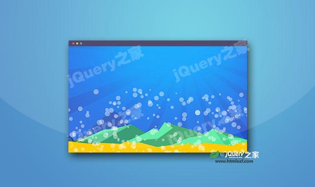 HTML5 canvas圆形气泡动画背景插件