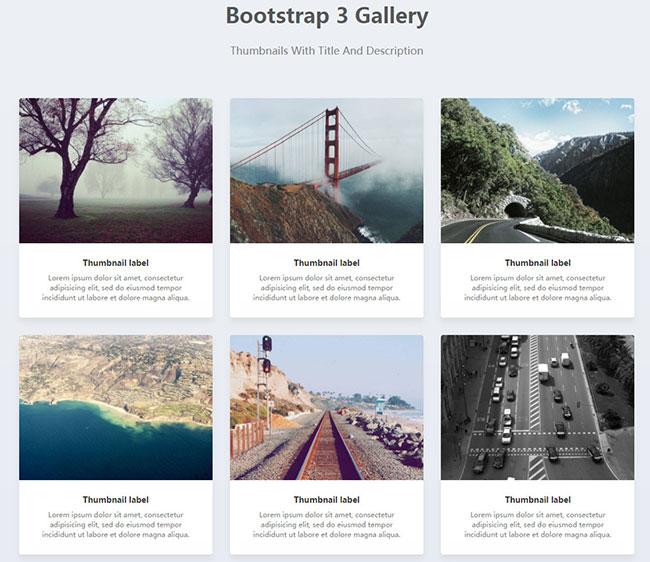 Bootstrap图片画廊