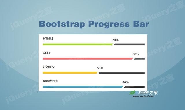 Bootstrap进度条动画特效