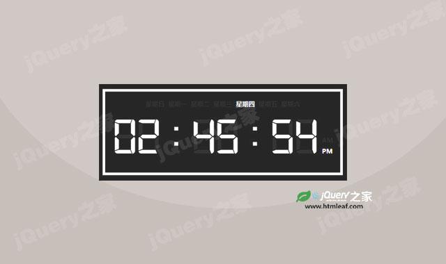 纯js实现电子时钟特效