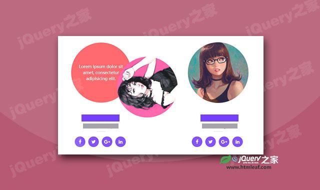 圆形图片CSS3鼠标hover动画效果