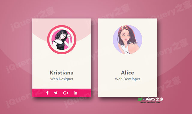 CSS3团队成员介绍卡片特效