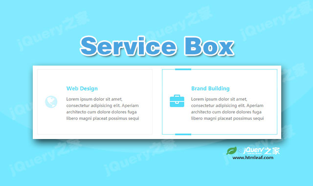 Bootstrap公司业务分类布局界面设计