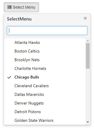 SelectMenu下拉菜单插件-高级菜单模式