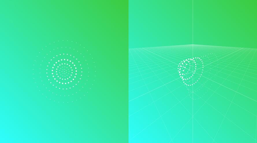可以缩放和旋转的环状粒子动画特效