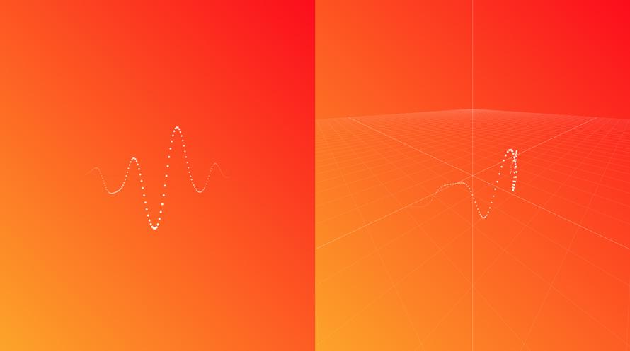 简单的噪音线条粒子动画特效