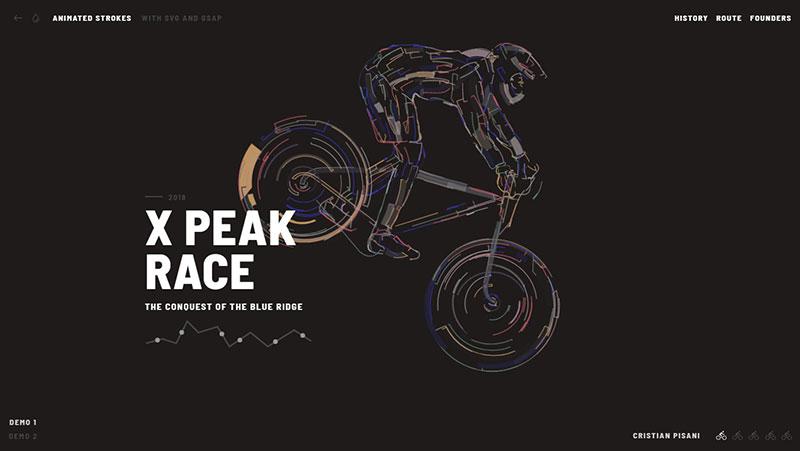 HTML5 svg 自行车运动描边动画特效-1