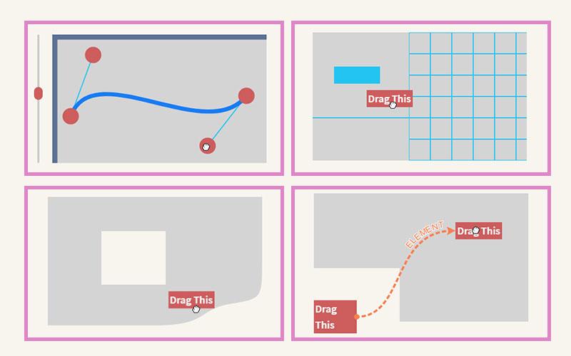 HTML和SVG元素拖拽js插件示例截图