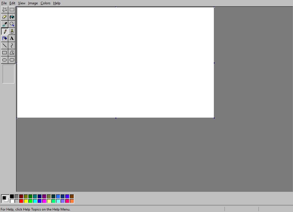 仿windows的html5画图工具屏幕截图效果-1