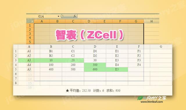 智表-浏览器端仿EXCEL表格jQuery插件