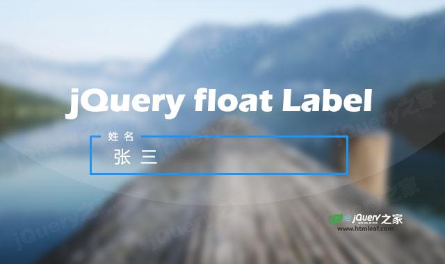 jQuery表单浮动标签插件